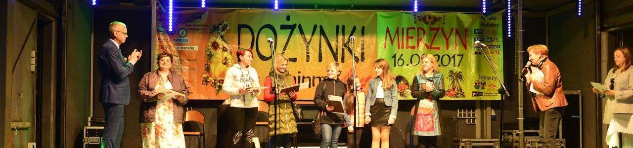 Finał konkursu świetlic wiejskich na dożynkach w Mierzynie.