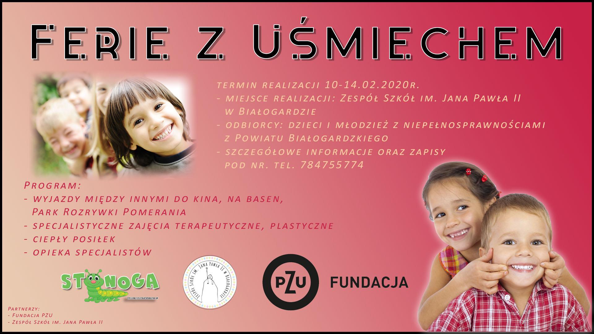 Plakat zapraszający dzieci niepełnosprawne do udziału wwarsztatach